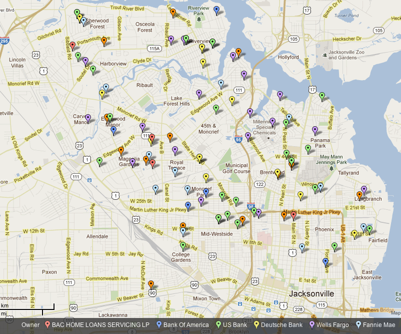 Jacksonville Florida Zip Code Map Submited Images