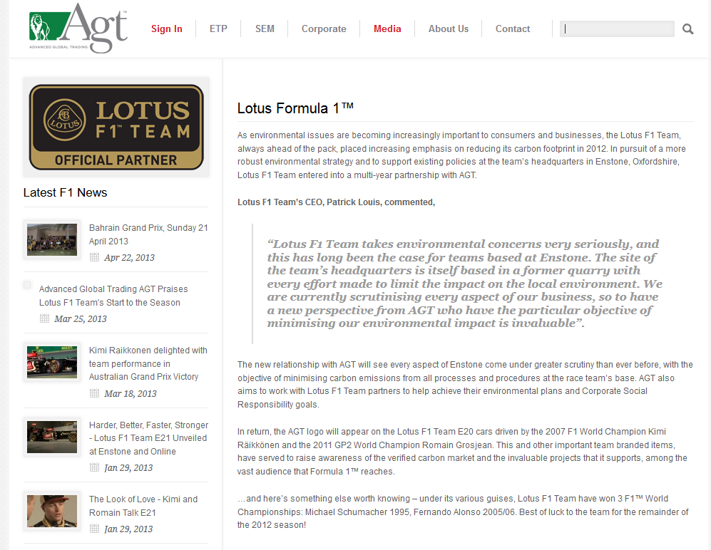 AGT Lotus news Capture 3 Nov