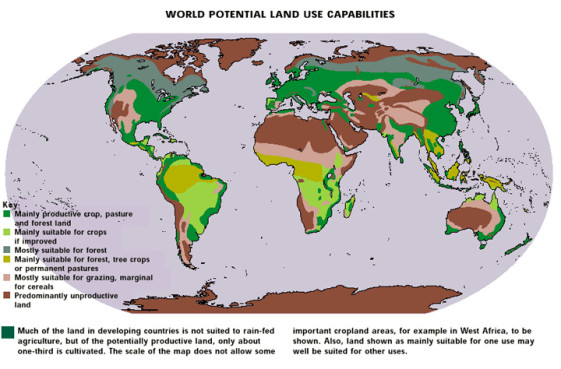 Land for growing food