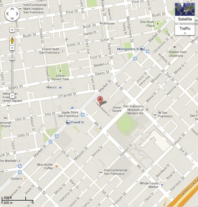 Meetup map of destination