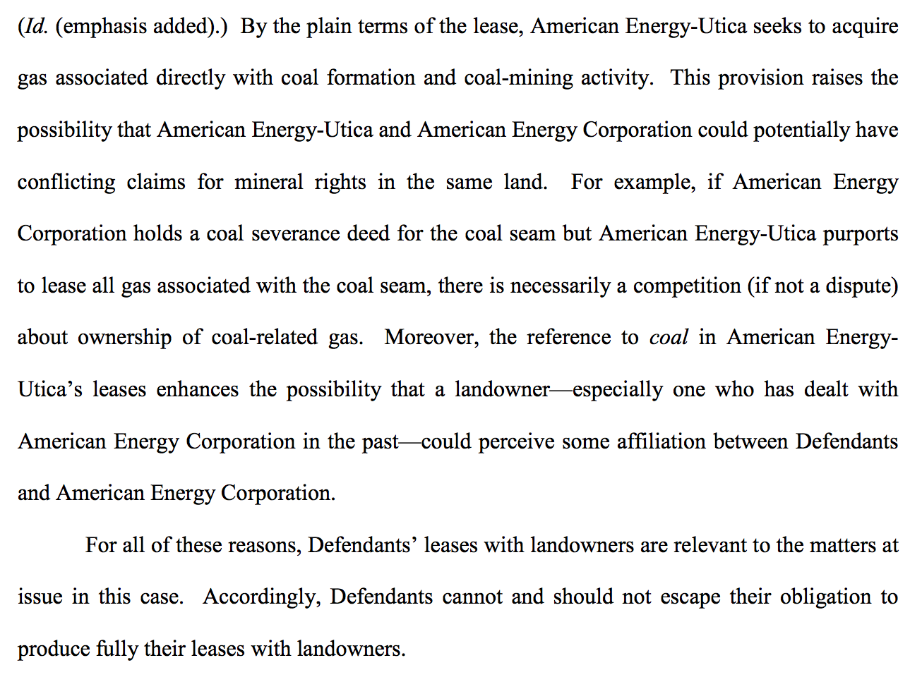 American energy text