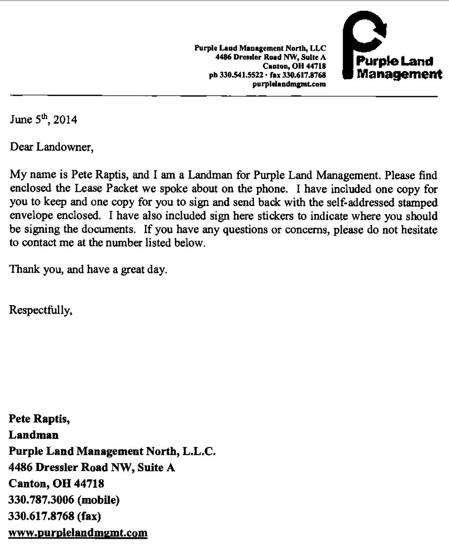 Lease cover note
