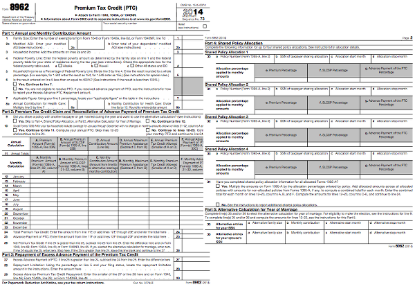 ObamaCare Shared Responsibility Payments Come Due on April 15 – 1040ez Worksheet