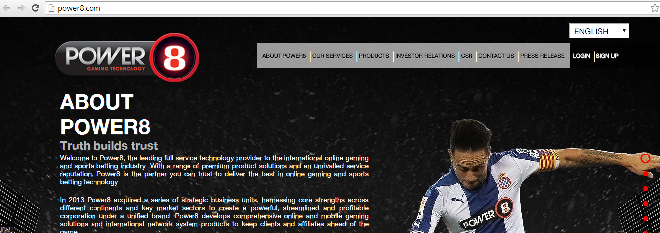 Other Power 8 signup page
