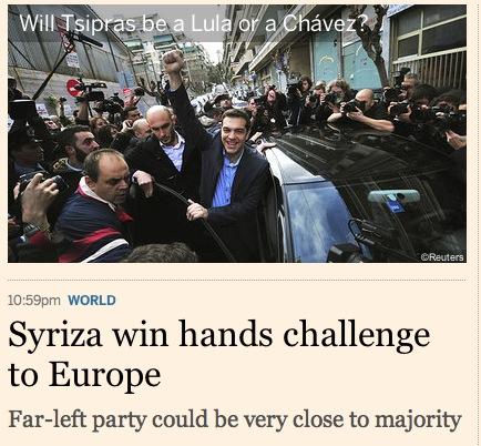 FT Syriza victory