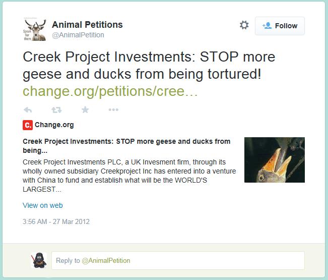 Creek Tweet Capture