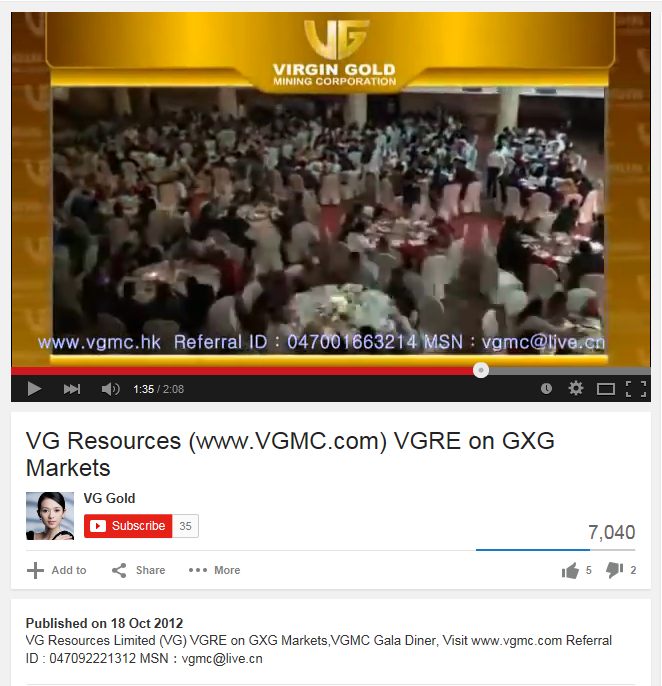 VG Resources Virgin Gold Tie Up Capture