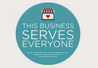 open for service sticker