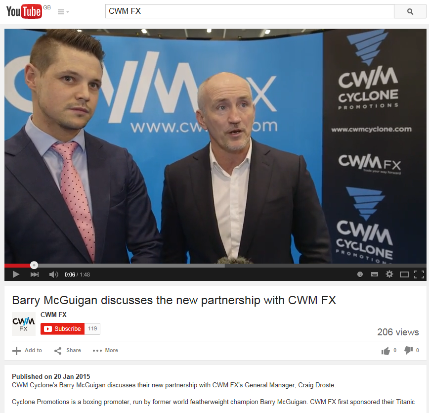 CWM FX and Barry McGuigan Capture