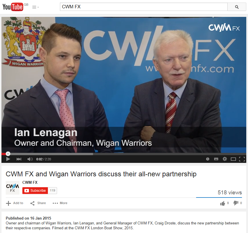 CWM FX and Wigan Warriors Capture