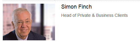 Simon Finch head of Private and business clients Capture
