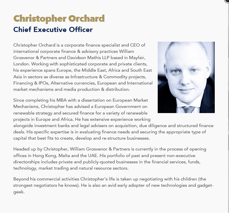 William Grosvenor Christopher Orchard Capture