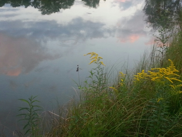 Dusk seen in a Woodstock VT pond