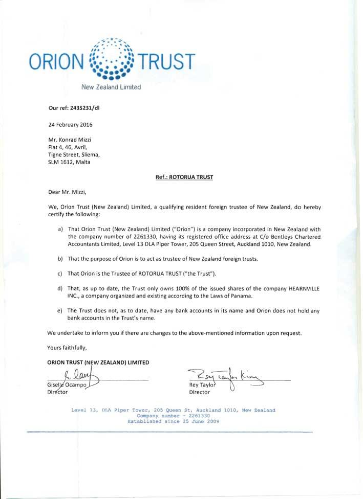 Orion Trust Rotorua Trust
