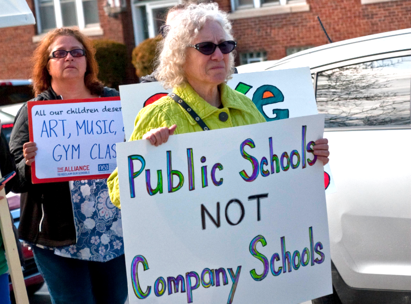 teacher strikes versus charter schools