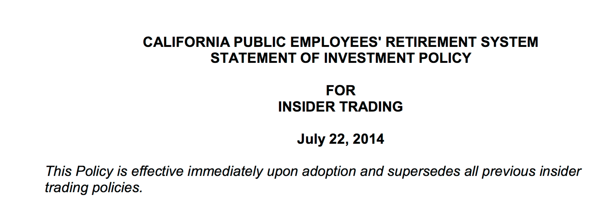 CalPERS Out of Control: Stunningly High Number of Personal Trading Violations, Yet Board Ignored the Misconduct. 5