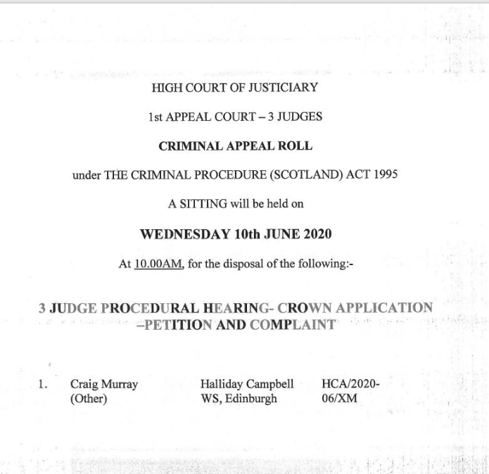 Craig Murray Documents Abuse of Process, aka Kangaroo Court, via Butchered Indictment 1