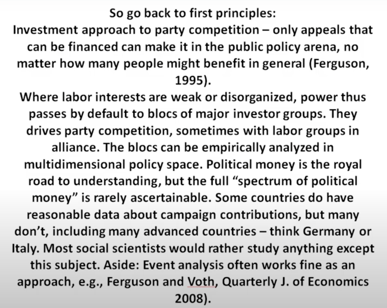 Political Scientist Tom Ferguson on Big Money and Social Conflicts in the Covid-19 Era 3