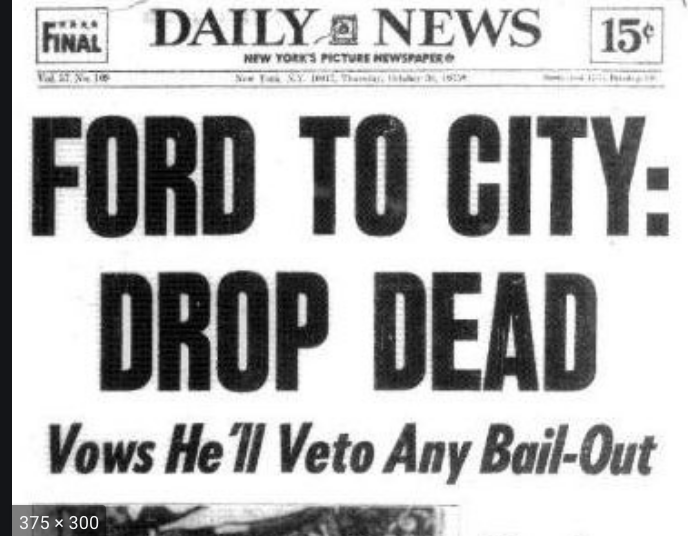 """New York City Faces Another """"Drop Dead"""": How Many Other Cities Will Wind Up in Distress? 3"""