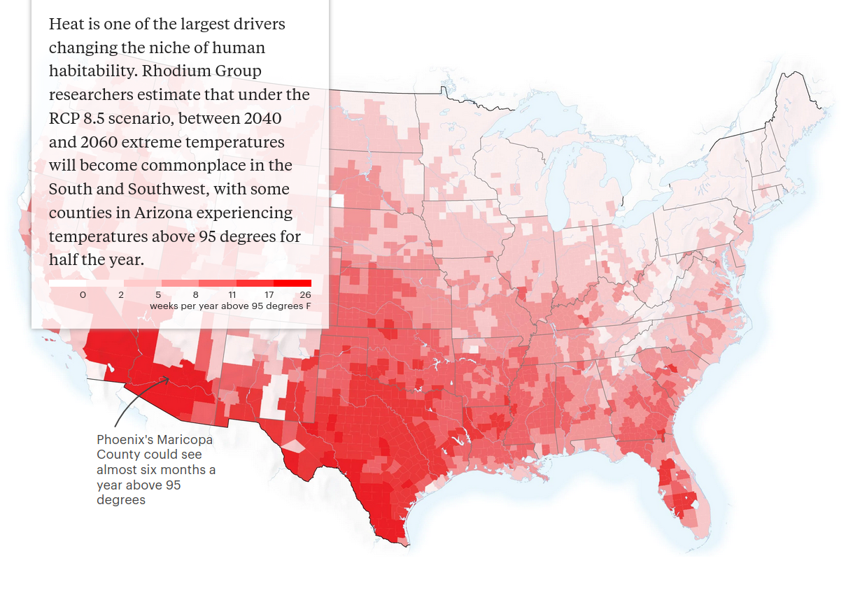 Much of the U.S. Could Be Uninhabitable by 2050 4